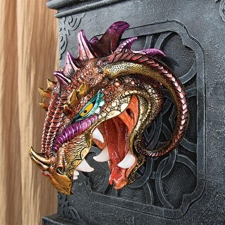 Design Toscano Halloween  Astaroth, Prince of Hell Dragon Wall Sculpture