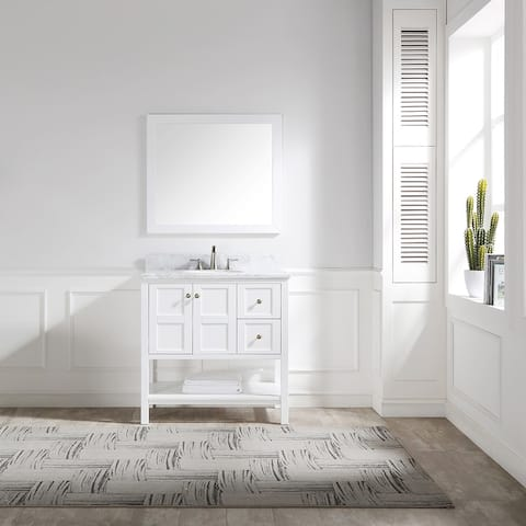 "Proox 36"" Modern Single Sink Bathroom Vanity Set"