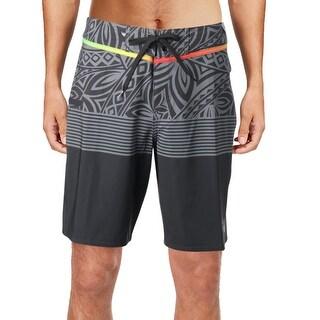 Quiksilver Mens Colorblock Printed Board Shorts