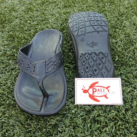 Pali Hawaii SHAKA BLACK Sandals with Certificate of Authenticity