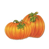 "Club Pack of 48 Festive Pumpkin Thanksgiving Cutout Decorations 15.5"" - Orange"