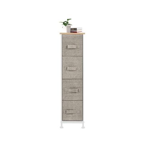 4-Drawer Narrow Dresser and Storage Organizer,Linen