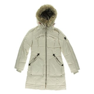 Buffalo David Bitton Womens Quilted Hooded Puffer Coat - XS