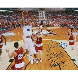 Jahlil Okafor Signed Duke Championship Game Lay Up 16x20 Photo w/2015 Champs