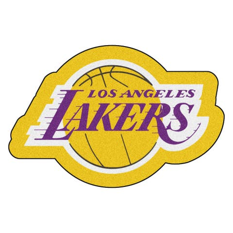 NBA Los Angeles Lakers Mascot Novelty Logo Shaped Area Rug