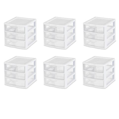STERILITE Small Drawer Units, Clear - Case of 6