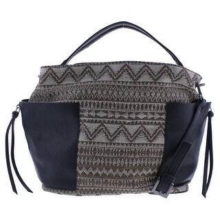 Steve Madden Womens Bkolti Hobo Handbag Faux Leather Textured Tan Large