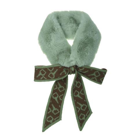 "Women Winter Scarf Thick Plush Neck Scarf Wrap Warmer Shawl - 155x9cm/61.02x3.54""(L*W)"