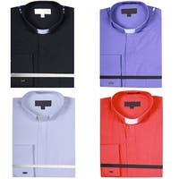 Men's Solid Color Tab Collar Clergy Shirt