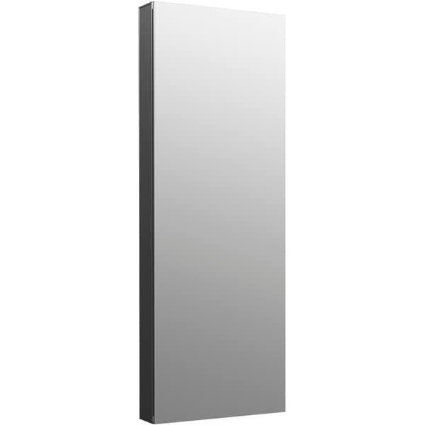 "Kohler K-81147 Maxstow 15"" x 40"" Frameless Single Door Medicine Cabinet - Dark Anodized Aluminum"