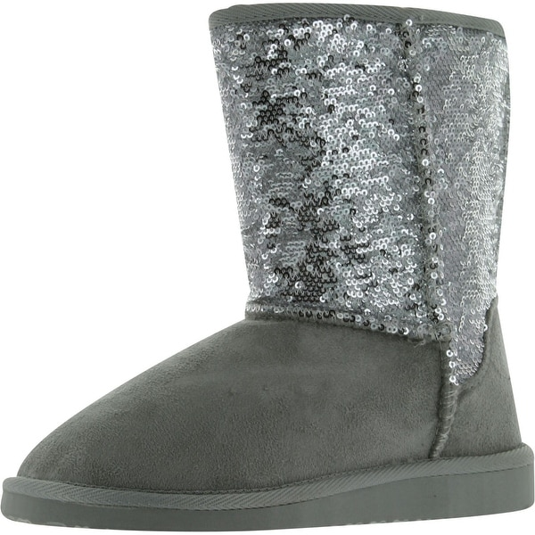 Soda Women's Bling Fashion Sequins Boots - gold sequins