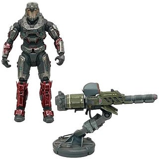 "Halo Reach Warthog Gauss Cannon with 5"" Spartan Operator Figure"