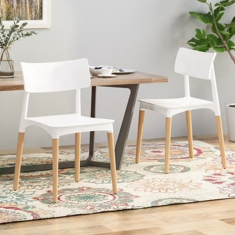 Margaretta Beech Wood Dining Chairs (Set of 2) by Christopher Knight Home
