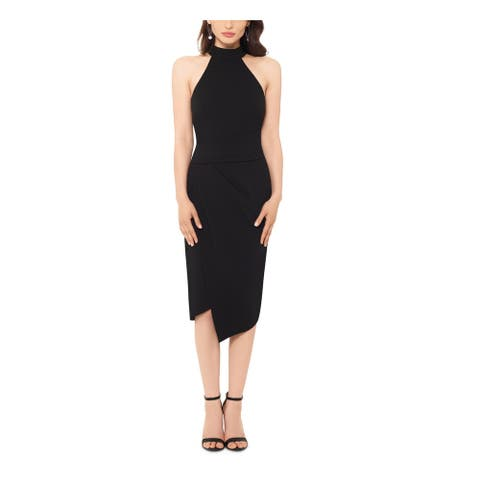 BETSY & ADAM Black Sleeveless Midi Dress 8
