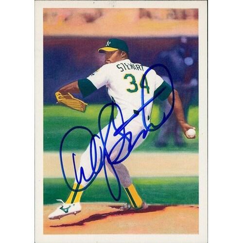 Signed Stewart Dave Oakland Athletics Signed 1990 Score Baseball Card Autographed