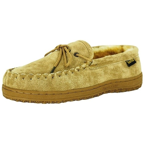 9f4dd76103a05 Shop Old Friend Slippers Mens Sheepskin Loafer Moccasin Chestnut ...