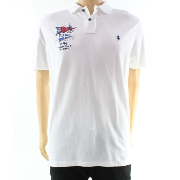 961b1244 Shop Polo Ralph Lauren NEW White Mens Size Medium M Custom-Fit Polo Shirt - Free  Shipping Today - Overstock - 19987462