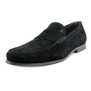 Tod's MOCASSINO JAM Men Round Toe Suede Black Loafer