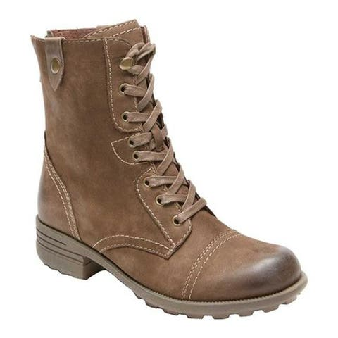 Rockport Women's Cobb Hill Bethany Boot Stone Full Grain Leather