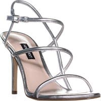 Nine West Mericia Strappy Evening Sandals, Silver - 8.5 us