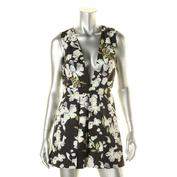 Lucy Paris Womens Romper Floral Print Sleeveless