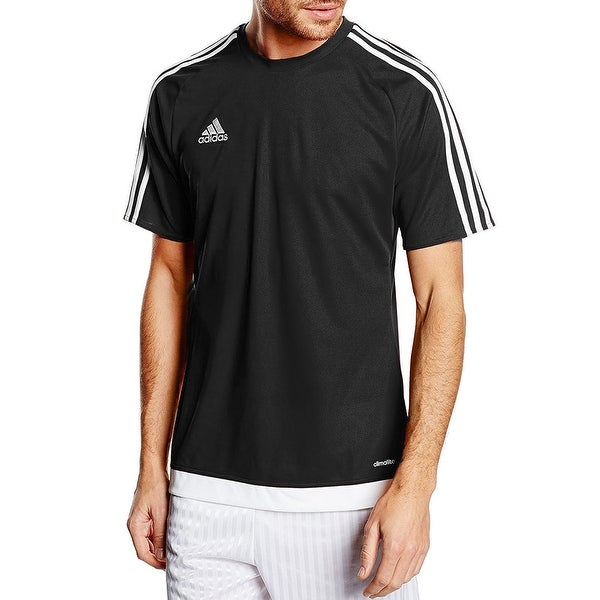 34edb36f2569 Adidas Boys Estro 15 Soccer Jersey T-Shirt Black White Size Youth Medium -