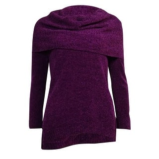 Cable & Gauge Women's Cowl Hi-Lo Chenille Sweater