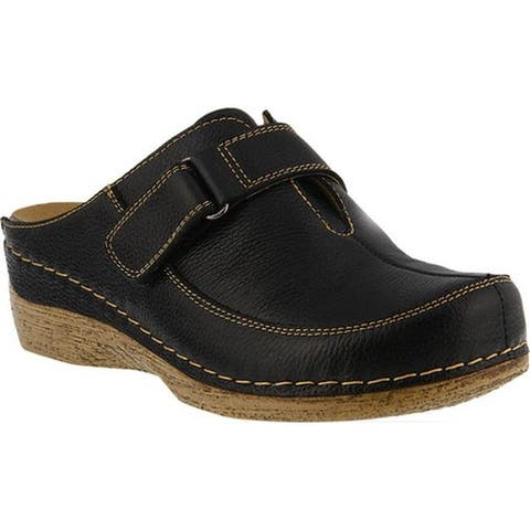 Spring Step Women's Aphylla Clog Black Full Grain Leather
