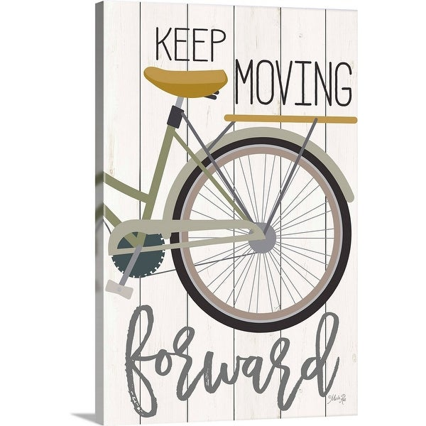 Marla Rae Solid-Faced Canvas Print entitled Keep Moving Forward