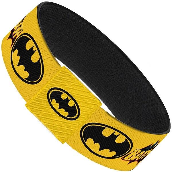 Vintage Batman Logo & Bat Signal 3 Yellow Elastic Bracelet