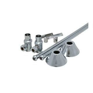 """ProFlo PFXCAS32CLKL12 1/2"""" x 3/8"""" Straight Supply Stop Kit with Risers, Flanges and Loose Key - Pack of 2"""