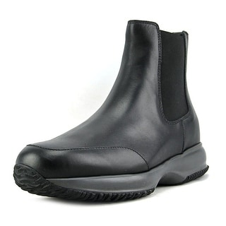 Hogan Interactive Stivaletto Elastico Youth Round Toe Leather Black Boot
