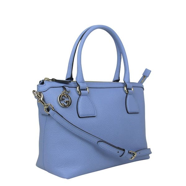 077f3241763 ... Gucci GG Charm Powder Blue Leather Medium Convertible Straight Bag With  Strap 449659 4503 ...