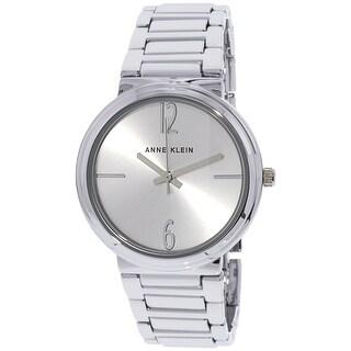Anne Klein Women's Silver Stainless-Steel Quartz Fashion Watch