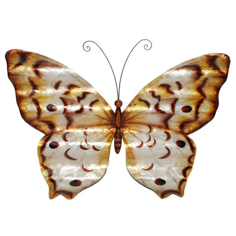 Handmade Wall Butterfly Copper with Ripples (Philippines) - 18 x 1 x 13