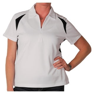Page & Tuttle Women's Performance Colorblock Zippered Polo
