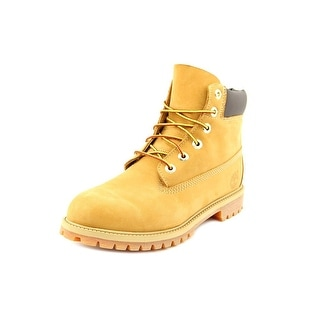 Timberland 6' Premium Waterproof Youth Round Toe Leather Beige Boot