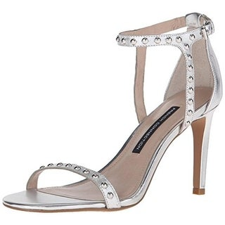 French Connection Womens Libby Leather Heels Dress Sandals
