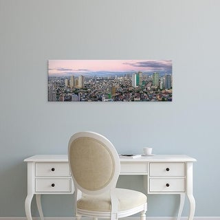 Easy Art Prints Panoramic Images's 'View of skylines in a city, Makati, Metro Manila, Manila, Philippines' Canvas Art