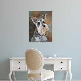 Easy Art Prints Edie Fagan's 'Buddy Schnauzer' Premium Canvas Art