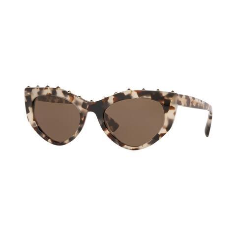 Valentino VA4060 509773 53 Brown/beige Havana Woman Cat Eye Sunglasses