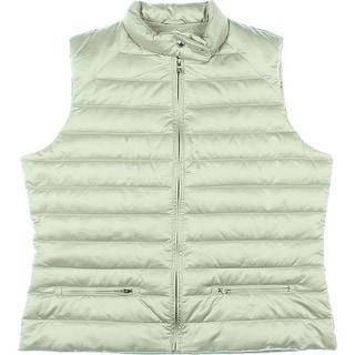Lauren Ralph Lauren Womens Down Puffer Outerwear Vest