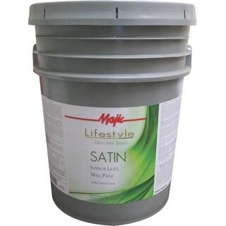Majic Lifestyle 8-1822 Satin Interior Latex Wall Paint, Medium Base