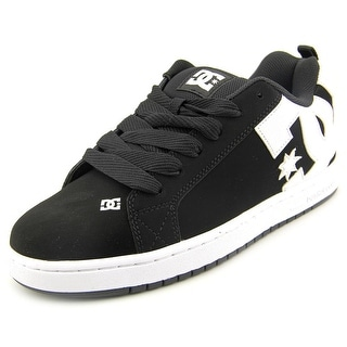 DC Shoes Court Graffik Men  Round Toe Leather Black Skate Shoe