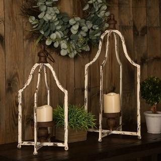 Link to Glitzhome Farmhouse Rustic Metal Lantern Similar Items in Outdoor Decor