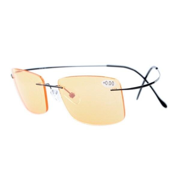 5c18fff83dc2 Shop Eyekepper Titanium Rimless Computer Reading Glasses Readers Men Women  Black +2.75 - Free Shipping On Orders Over $45 - Overstock - 15936364