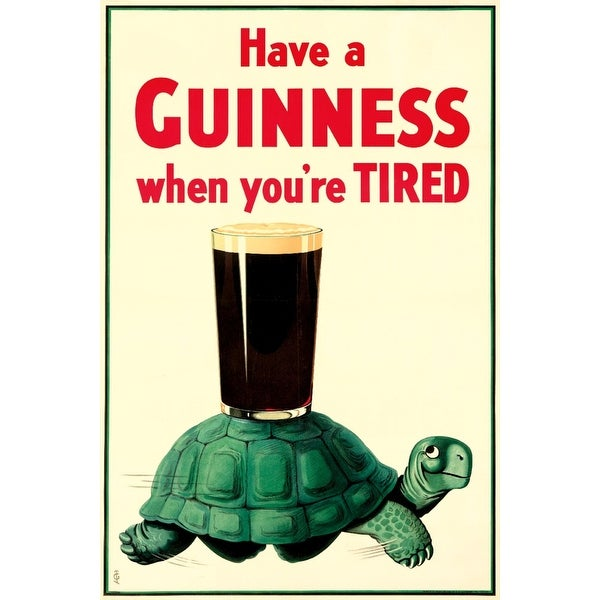 Have a Guinness Gilroy 1936 Vintage Ad (Acrylic Wall Clock)
