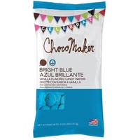 Chocomaker(R) Vanilla Flavored Candy Wafers 12Oz-Bright Blue