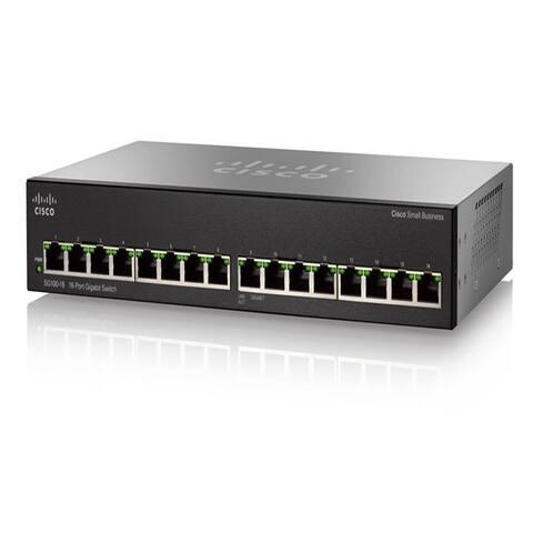 Cisco SG110-16 110 Series 16-Port Unmanaged Network Switch - Black