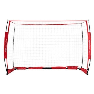 6' x 4' Soccer Goal Durable Bow Style Net Quick Setup Soccer Training w/ Bag - Red